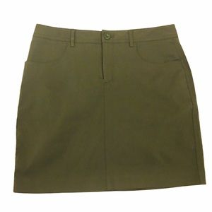 NWT MARIO SERRANI ITALY Green Stretch Mini Skirt